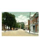 Mill Street East from Min Street Mount Holly New Jersey Postcard 1920 - $17.80