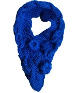 Hand-made Blue Scarf Crocheted