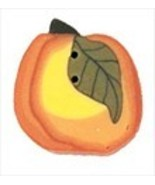 Tiny Blushing Peach 2329t handmade clay button ... - $1.60
