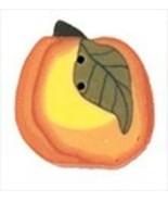 Small Blushing Peach 2329s handmade clay button... - $2.00