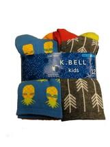 K Bell Boys 12 pair Crew Socks AZ Blue Assortment - $16.99