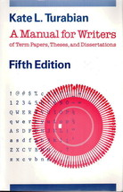 A Manual For Writers Fifth Edition by Kate L. Turabian  - $3.00
