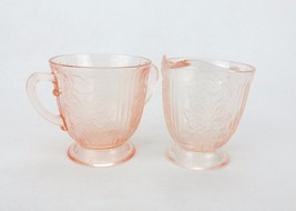 Pink Depression Glass Creamer & Sugar, American Sweetheart Pattern from ... - $34.25
