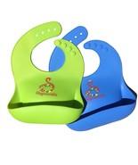 Baby Bibs Waterproof Silicone Soft THE BEST Baby Bibs,Easily Wipes Clean... - $11.85