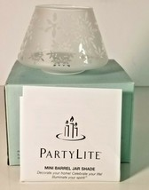 NIB Partylite Christmas Peace Mini Barrel Jar Shade P90371 GA1 - $11.87