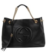 NEW GUCCI 536196 Soho Leather Tote Bag, Black - $2,550.00