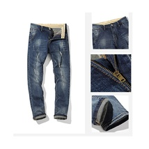 New Fashion jeans men casual pants famous brand mens Trousers plus trousers ripp image 4
