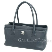 CHANEL Executive Line Tote Bag Calf Leather Navy A67282 Italy Authentic ... - $2,702.94 CAD