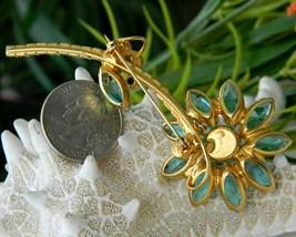Juliana rhinestone brooch pin flower aqua thumb200