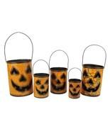 Gerson 5 Nesting Luminary Jack-O-Lantern Pumpkin Halloween Container Bas... - €69,04 EUR