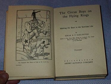The Circus Boys on the Flying Rings Juvenile Series Book 1910