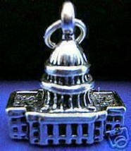 NICE 2286 US CAPITAL BUILDING Pendant 3D Charm Silver - $19.11
