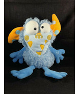 """2005 MANHATTAN TOY MONSTER GALOOMPAGALOTS SHAGGY BLUE PLUSH TOY 16"""" - $34.65"""