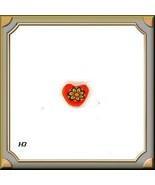 10 FIMO  ORANGE HEARTS  SCRAPBOOK..CARDS Crafts #H3 - $3.34