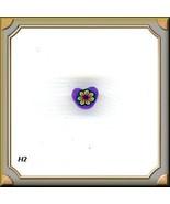 10 FIMO  PURPLE  HEARTS  SCRAPBOOK..CARDS Crafts #H2 - $3.34