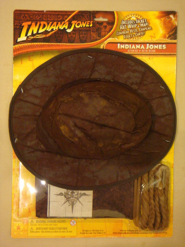 INDIANA JONES ACTION KIT COSTUME JACKET HAT WHIP & MAP
