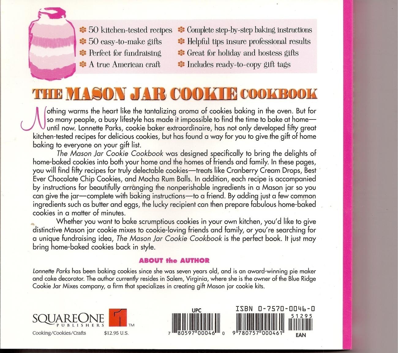 The Mason Jar Cookie Cookbook by Lonnette Parks