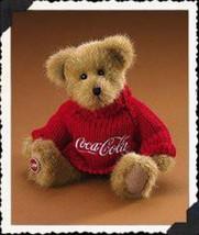 "Boyds Bears ""Johnny""  #919912- 8"" Coca Cola Plush Bear -Licensed~ 2005~R... - $19.99"
