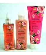 Bodycology Pink Vanilla Wish Body Cream & Wash & Fragrance Mist - $18.67