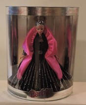 1998 Happy Holidays Special Edition Barbie Black Dress Pink Wraparound a... - $29.65