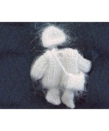 DOLLHOUSE MINIATURE Toddler Sweater Set Heidi Ott White Wearable 1:12 - $21.85