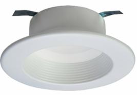 "NEW RL 4"" Matte White Integrated LED Recessed Lighting Retrofit Downligh... - $18.90"