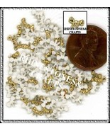 100  Iridescent AB  GOLD  3D  Puffy BOWS  Shapes - $2.99