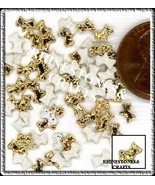 100  Iridescent AB  GOLD  3D  Puffy DOGS  Shapes - $2.99