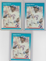 1987 Fleer  #138 Ruben Sierra RC Lot of 3 - $1.62