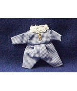 DOLLHOUSE MINIATURE Toddler 1-pc Outfit Heidi Ott Wearable Blue Check1:12 - $18.45