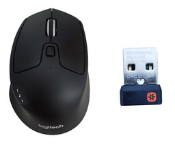 Logitech M720 Triathlon Bluetooth Wireless Optical Mouse with Unifying Receiver - $32.99