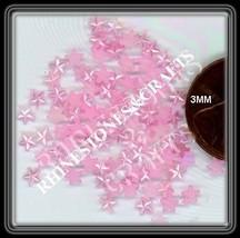 100  PEARLY PINK  STARS  Designer Nail Art +Crafts - $2.99
