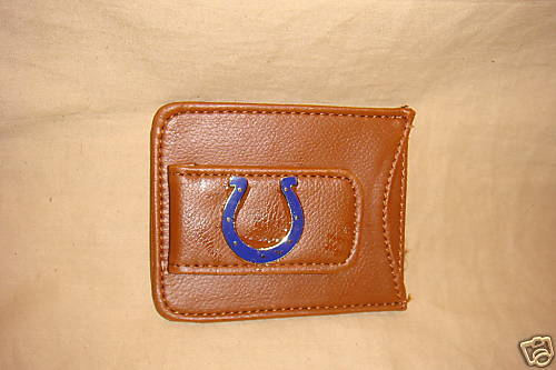INDIANAPOLIS COLTS MONEY CLIP AND CARD HOLDER LEATHER