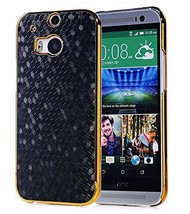 HTC One M8 Case, Vfunn Elegant Golden Plating Hard Back Case Cover for H... - $22.66