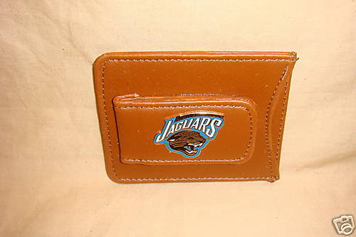 JACKSONVILLE JAGUARS MONEY CLIP AND CREDIT CARD HOLDER