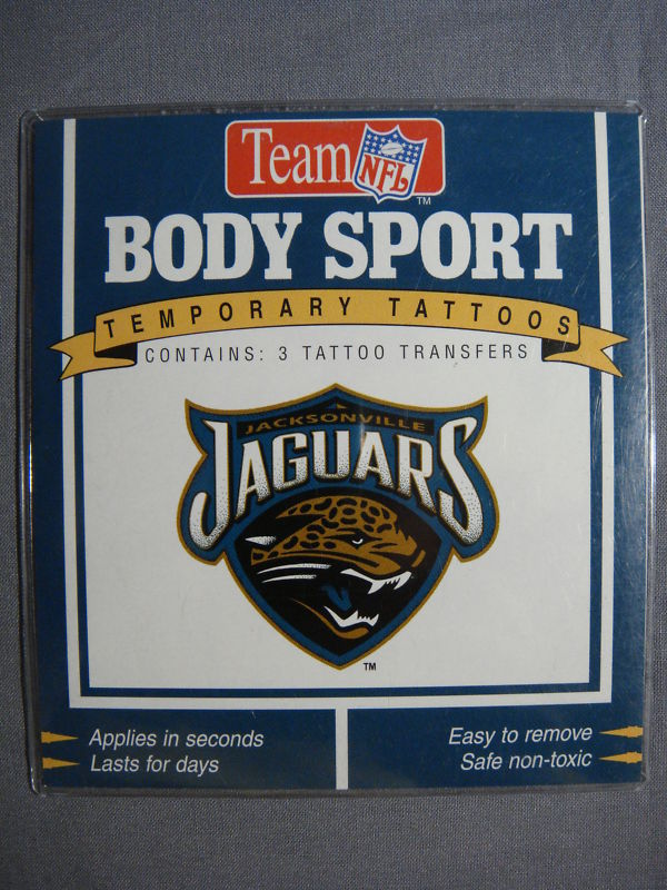 JACKSONVILLE JAGUARS TATTOOS TEMPORARY TATTOOS NFL NEW