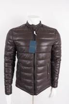 Zara Man Faux Leather Puffer Jacket Coat Medium Maroon Burgundy 0706/521 NWT - $128.69