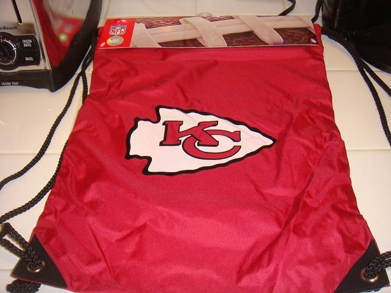 KANSAS CITY CHIEFS DRAWSTRING BACKPACK CINCH SAC