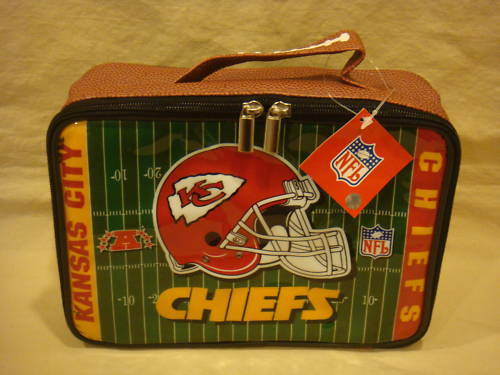 KANSAS CITY CHIEFS LUNCH BOX / BAG LICENSED NFL NEW