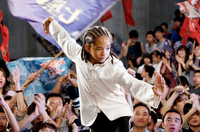 THE KARATE KID COSTUME JADEN SMITH KARATE SUIT SMALL 4-6 MOVIE BLACK & WHITE