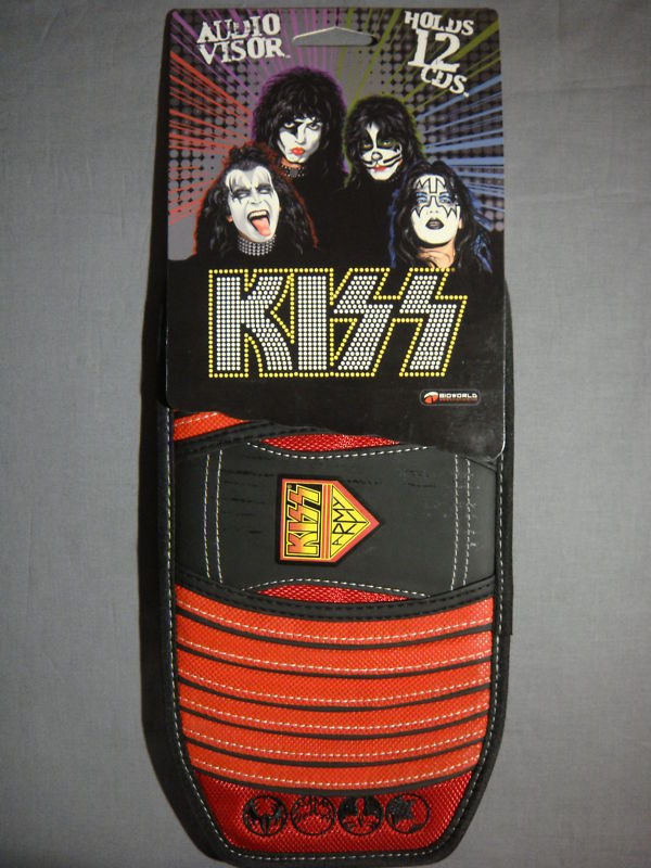 KISS ARMY LOGO AUDIO CD CAR VISOR NEW ROCK AND ROLL DISC HOLDER