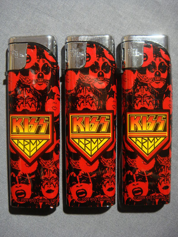 KISS ARMY LOGO DEBUT ALBUM COVER SLIM LIGHTER SET OF 3