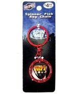 KISS CLASSIC LOGO SPINNER GUITAR PICK KEYCHAIN NEW - $3.95