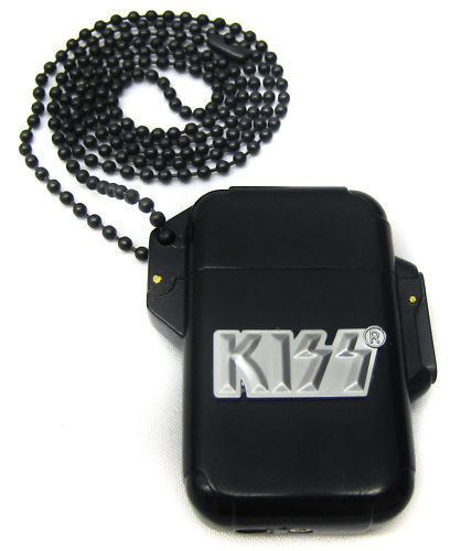 KISS ROCK & ROLL BUTANE TORCH LIGHTER NECKLACE WITH TIN