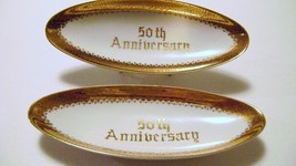 Norcrest Fine China 50th Anniversary Tidbit Trays - $15.00