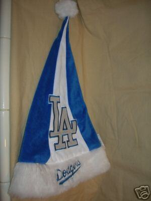 "LOS ANGELES DODGERS SANTA HAT 17"" CHRISTMAS HAT MLB NEW"
