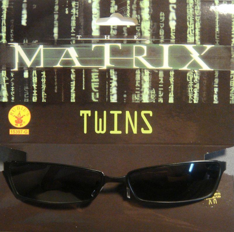 THE MATRIX RELOADED TWINS SUNGLASSES COSTUME ACCESSORY UV PROTECTION