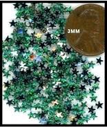 100 Rhinestones GREEN new lots Arts Crafts STARS - $4.75