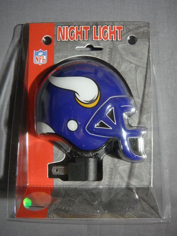 MINNESOTA VIKINGS HELMET NIGHT LIGHT NEW NFL