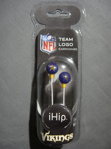 MINNESOTA VIKINGS MP3 IPOD EARBUDS EARPHONES NEW NFL